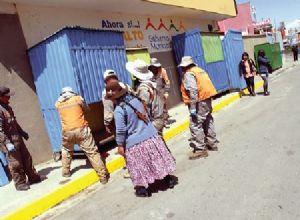 Traslado de gremiales de El Alto