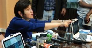 Ministra Morales en conferencia de prensa
