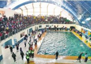 Inauguracion piscina semiolimpica en El Alto