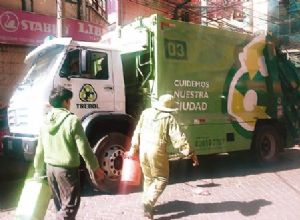 Recojo de basura en la Ciudad de El Alto