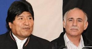 Evo Morales junto a Ciro Zabala