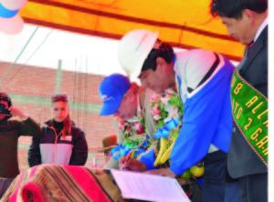 Firma de convenio SEGIP y Municipio de El Alto