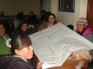Capacitacion de Agentes comunitarias en  el C.P.M. Gregoria Apaza
