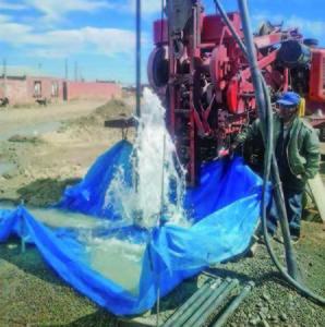 Nuevo pozo de agua Distrito 8 El Alto