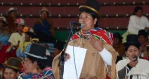 Felipa Huanca candidata a la Gobernación de La Paz